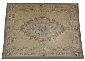 Palatial Aubusson Style Hand Woven Tapestry or Rug