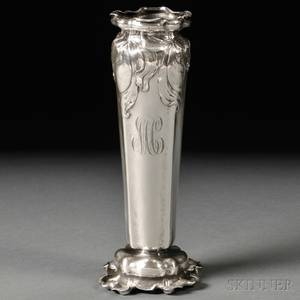 Gorham Art Nouveau Sterling Silver Vase