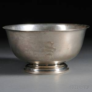 International Sterling Silver Paul Revere Reproduction Bowl