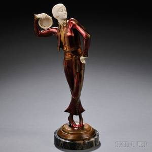 Paul Philippe French 18701930 Art Deco Coldpainted Bronze and Ivory Figure of a Spanish Dancer