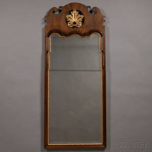 Large Queen Annestyle Mahogany Veneer and Parcelgilt Pier Mirror