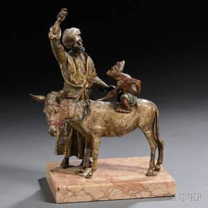 Austrian Coldpainted Bronze Figural Group