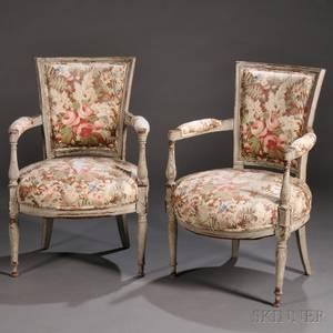 Pair of Louis XVIstyle Fauteuils