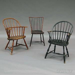 Three Windsor and Windsorstyle Chairs