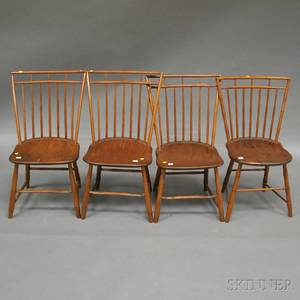 Four Windsor Birdcage Side Chairs