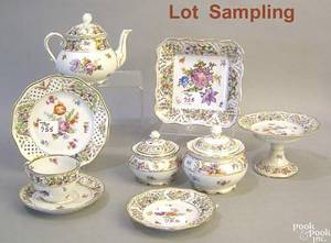 Schumann Bavarian porcelain tea service to include 10 cups and saucers