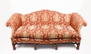 George III Style Southwood Camelback Sofa