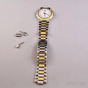 Gentlemans Baume  Mercier Riviera Bicolor Stainless Steel Wristwatch