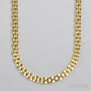 18kt Gold Panthere Necklace Cartier