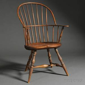 Windsor Ash Pine and Maple Sackback Chair