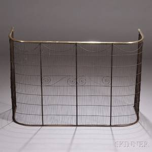 Brass and Wirework Fire Screen