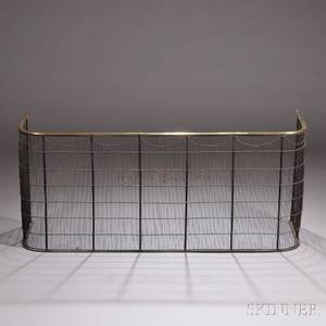Tall Brass and Wirework Fire Screen