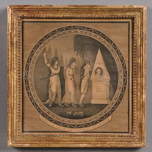Framed George Washington Memorial Engraving
