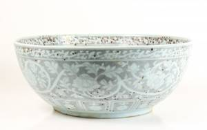 Large Ming Dynasty Style Porcelain Bowl