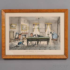 Currier  Ives publishers American 18571907 THE CHANCES OF BILLIARDS A scratch all around