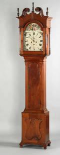 Berks County Chippendale walnut tall case clock ca 1800