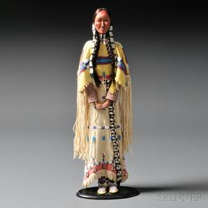 Contemporary Cheyenne Female Doll Attributed to Charlene Holy Bear