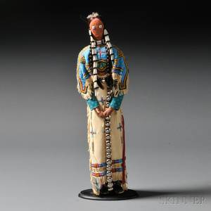 Contemporary Lakota Female Doll Attributed to Charlene Holy Bear
