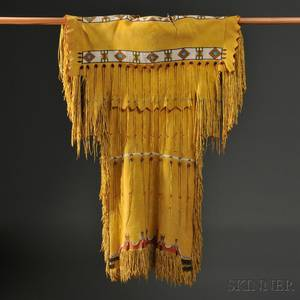 Southern Cheyenne Beaded Hide Dress c mid20th century