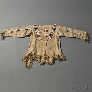 Ute or Jicarilla Apache Beaded Hide Boys Shirt