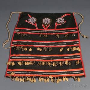 Northwest Coast Beaded Cloth Dance Apron