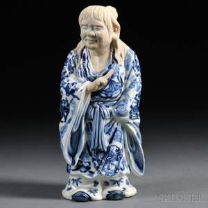 Blue and White Porcelain Figure