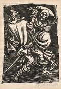 Ernst Barlach German 18701938 Two Images from WALPURGISNACHT