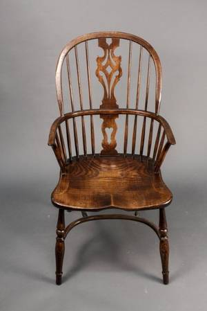 Windsor Elm Wood Armchair