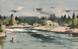 Paul Starrett Sample American 18961974 Salmon Fisherman