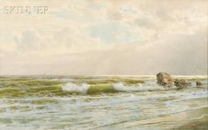 William Trost Richards American 18331905 Seascape