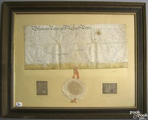 Thomas and Richard Penn land grant dated 1751