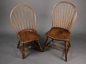 Two 18th Century Windsor Hoop Back Side Chairs