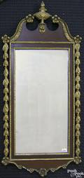 Chippendale style mahogany constitution mirror
