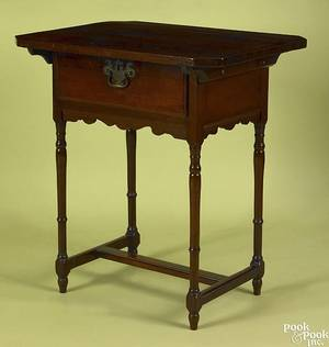 New Jersey walnut work stand late 18th c