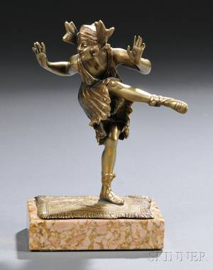 Continental School Early 20th Century Bronze Figure of a Dancer