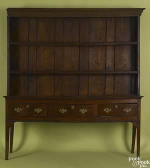 George II oak Welsh dresser mid 18th c