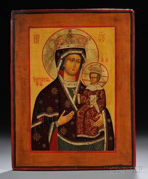 Russian Icon Depicting the Mother of God