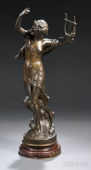 After Mathurin Moreau French 18221912 Danseuse a la Lyre