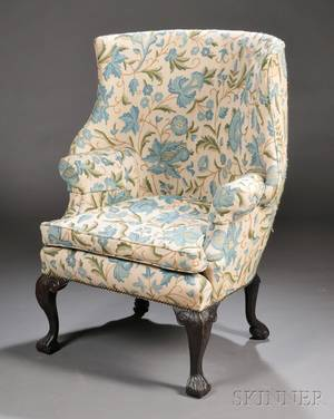 George Istyle Needleworkupholstered Wingback Armchair