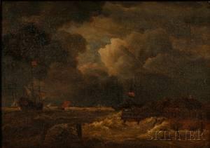 Wilhelm Ferdinand Xylander Danish 18401913 After Jacob Isaakszoon van Ruisdael Dutch 162891682 The Tempest