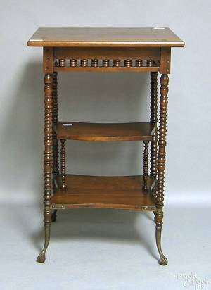 Victorian cherry end table