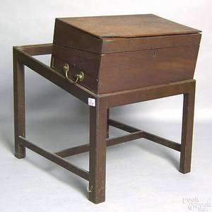 English mahogany traveling desk