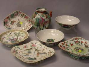 Seven Pieces of Chinese Porcelain Tableware