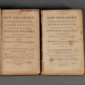 Bible New Testament in English ed Richard Wynne 17181779