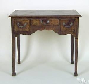 George III mahogany veneer dressing table ca 1780