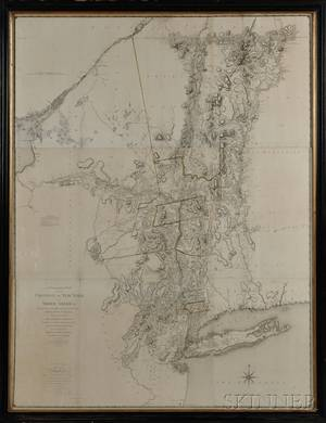 Sauthier Claude Joseph 17361802 Chorographical Map of the Province of New York in North America