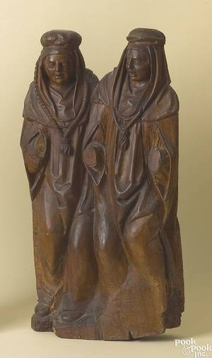 German limewood holy figural group late 16th c