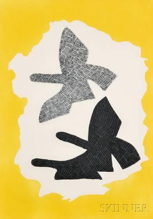 Georges Braque French 18821963 Les trois oiseaux en vol