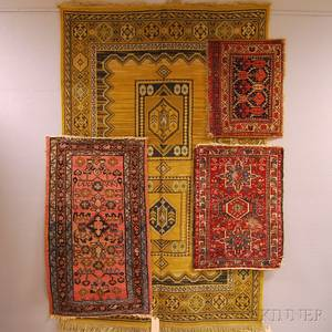 Three Small Oriental Rugs and a Machinemade Rug