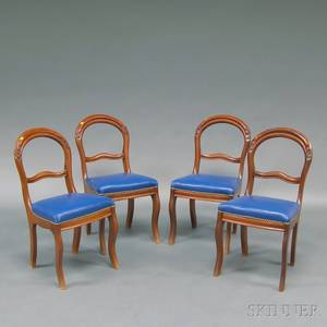 Set of Four Victorian Balloonback Side Chairs